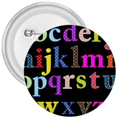 Alphabet Letters Colorful Polka Dots Letters In Lower Case 3  Buttons