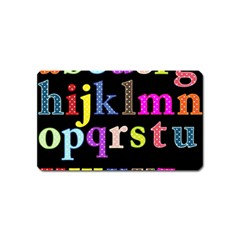 Alphabet Letters Colorful Polka Dots Letters In Lower Case Magnet (Name Card)