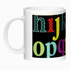 Alphabet Letters Colorful Polka Dots Letters In Lower Case Night Luminous Mugs