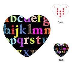 Alphabet Letters Colorful Polka Dots Letters In Lower Case Playing Cards (heart)
