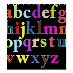 Alphabet Letters Colorful Polka Dots Letters In Lower Case Shower Curtain 66  X 72  (large)