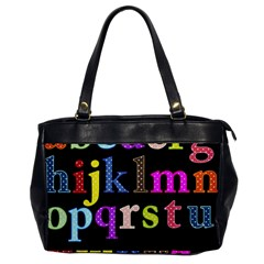 Alphabet Letters Colorful Polka Dots Letters In Lower Case Office Handbags