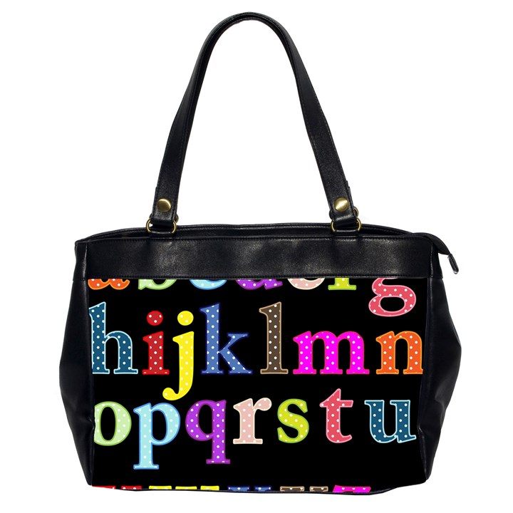 Alphabet Letters Colorful Polka Dots Letters In Lower Case Office Handbags (2 Sides)