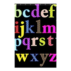 Alphabet Letters Colorful Polka Dots Letters In Lower Case Shower Curtain 48  X 72  (small)