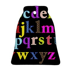 Alphabet Letters Colorful Polka Dots Letters In Lower Case Bell Ornament (two Sides)
