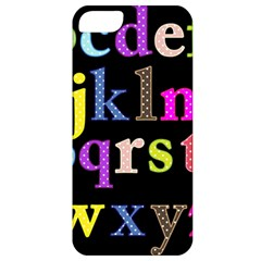 Alphabet Letters Colorful Polka Dots Letters In Lower Case Apple iPhone 5 Classic Hardshell Case
