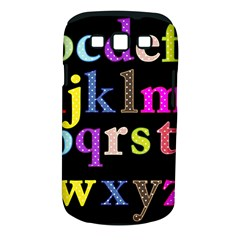 Alphabet Letters Colorful Polka Dots Letters In Lower Case Samsung Galaxy S Iii Classic Hardshell Case (pc+silicone)