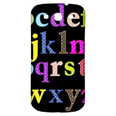 Alphabet Letters Colorful Polka Dots Letters In Lower Case Samsung Galaxy S3 S III Classic Hardshell Back Case