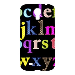 Alphabet Letters Colorful Polka Dots Letters In Lower Case Samsung Galaxy S4 I9500/I9505 Hardshell Case