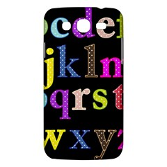 Alphabet Letters Colorful Polka Dots Letters In Lower Case Samsung Galaxy Mega 5.8 I9152 Hardshell Case