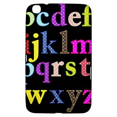 Alphabet Letters Colorful Polka Dots Letters In Lower Case Samsung Galaxy Tab 3 (8 ) T3100 Hardshell Case