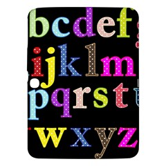 Alphabet Letters Colorful Polka Dots Letters In Lower Case Samsung Galaxy Tab 3 (10.1 ) P5200 Hardshell Case