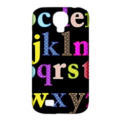 Alphabet Letters Colorful Polka Dots Letters In Lower Case Samsung Galaxy S4 Classic Hardshell Case (PC+Silicone)