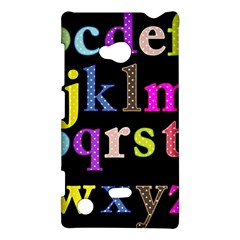 Alphabet Letters Colorful Polka Dots Letters In Lower Case Nokia Lumia 720