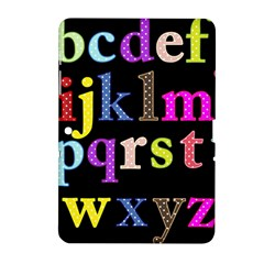 Alphabet Letters Colorful Polka Dots Letters In Lower Case Samsung Galaxy Tab 2 (10.1 ) P5100 Hardshell Case