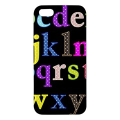 Alphabet Letters Colorful Polka Dots Letters In Lower Case iPhone 5S/ SE Premium Hardshell Case