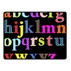 Alphabet Letters Colorful Polka Dots Letters In Lower Case Double Sided Fleece Blanket (Small)
