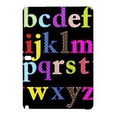 Alphabet Letters Colorful Polka Dots Letters In Lower Case Samsung Galaxy Tab Pro 12.2 Hardshell Case