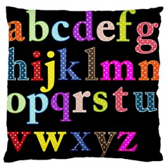 Alphabet Letters Colorful Polka Dots Letters In Lower Case Standard Flano Cushion Case (One Side)