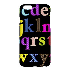Alphabet Letters Colorful Polka Dots Letters In Lower Case Apple iPhone 6 Plus/6S Plus Hardshell Case