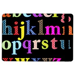 Alphabet Letters Colorful Polka Dots Letters In Lower Case Ipad Air 2 Flip