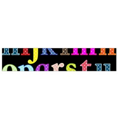 Alphabet Letters Colorful Polka Dots Letters In Lower Case Flano Scarf (small)
