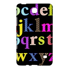 Alphabet Letters Colorful Polka Dots Letters In Lower Case Samsung Galaxy Tab 4 (8 ) Hardshell Case
