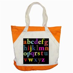 Alphabet Letters Colorful Polka Dots Letters In Lower Case Accent Tote Bag