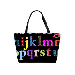 Alphabet Letters Colorful Polka Dots Letters In Lower Case Shoulder Handbags