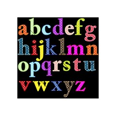 Alphabet Letters Colorful Polka Dots Letters In Lower Case Acrylic Tangram Puzzle (4  x 4 )