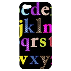 Alphabet Letters Colorful Polka Dots Letters In Lower Case Apple iPhone 5 Hardshell Case