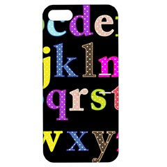 Alphabet Letters Colorful Polka Dots Letters In Lower Case Apple iPhone 5 Hardshell Case with Stand