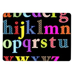 Alphabet Letters Colorful Polka Dots Letters In Lower Case Samsung Galaxy Tab 10.1  P7500 Flip Case