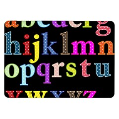 Alphabet Letters Colorful Polka Dots Letters In Lower Case Samsung Galaxy Tab 8.9  P7300 Flip Case