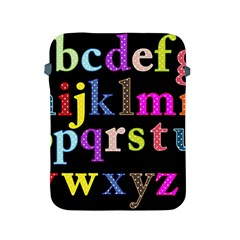 Alphabet Letters Colorful Polka Dots Letters In Lower Case Apple iPad 2/3/4 Protective Soft Cases