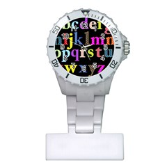 Alphabet Letters Colorful Polka Dots Letters In Lower Case Plastic Nurses Watch