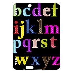 Alphabet Letters Colorful Polka Dots Letters In Lower Case Kindle Fire HDX Hardshell Case