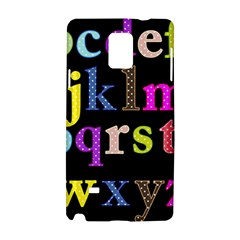 Alphabet Letters Colorful Polka Dots Letters In Lower Case Samsung Galaxy Note 4 Hardshell Case