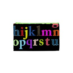 Alphabet Letters Colorful Polka Dots Letters In Lower Case Cosmetic Bag (xs)