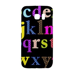 Alphabet Letters Colorful Polka Dots Letters In Lower Case Galaxy S6 Edge