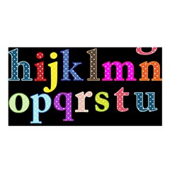 Alphabet Letters Colorful Polka Dots Letters In Lower Case Satin Shawl