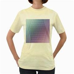 Abstract Lines Background Women s Yellow T Shirt
