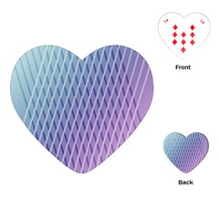Abstract Lines Background Playing Cards (Heart)