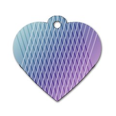 Abstract Lines Background Dog Tag Heart (one Side)