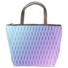 Abstract Lines Background Bucket Bags