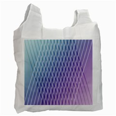 Abstract Lines Background Recycle Bag (two Side)