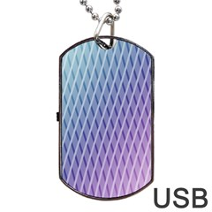 Abstract Lines Background Dog Tag USB Flash (One Side)