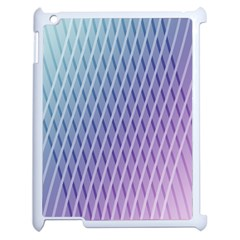 Abstract Lines Background Apple Ipad 2 Case (white)