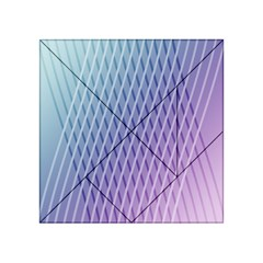 Abstract Lines Background Acrylic Tangram Puzzle (4  x 4 )