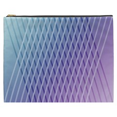 Abstract Lines Background Cosmetic Bag (xxxl)